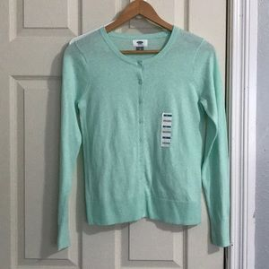 Old Navy Cardigan blue green size XS NWT